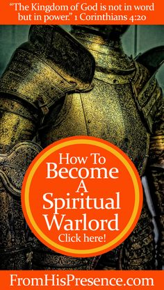 YOU as a Christian are called to be a spiritual warlord. The Kingdom of God is not in word but in POWER. Read what that looks like in this blog post!