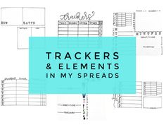 Elements Modules & Trackers I Use for my journal