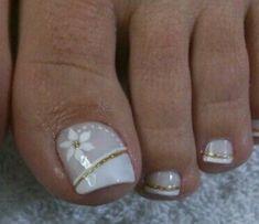 Cute Toe Nails, Cute Toes, Pedicure Francesa, Toe Nail Designs, Manicure And Pedicure, Nail Art, Beauty, Colorful Nails, Designed Nails