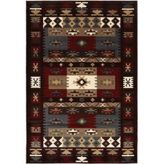 "LNR Home Adana Burgundy Plush Indoor Rectangle Area Rug 7'9"" x 9'9"" ($218) ❤ liked on Polyvore featuring home, rugs, black, woven area rugs, black area rugs, black plush rug, plush area rugs and burgundy rugs"
