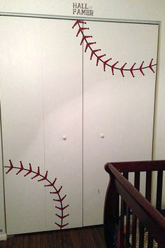 Custom baseball stitches decal. Sports decor. Baseball Decor.  https://www.etsy.com/listing/91980607/nursery-baseball-decal-baseball-decor?ref=shop_home_feat