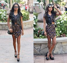 Tiffany B. - stood up like leopards.