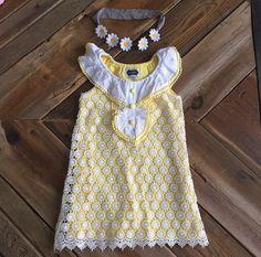 Check out this listing on Kidizen: Mud Pie Crochet Flower Dress Honeycomb via @kidizen #shopkidizen