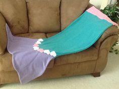 Mermaid tail fleece blanket.  My own pattern.