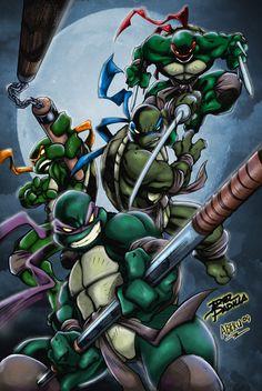 Teenage Mutant Ninja Turtles by Aberu-Chan