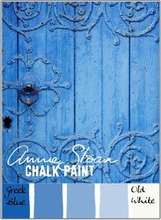 Colorways: Greek Blue - an Annie Sloan Chalk Paint