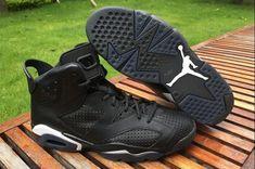 aac0359d9c4356 Air Jordan 6 Retro Black Cat Black White 384664-020 For Sale-4