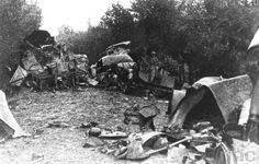Poles fought here .... German equipment destroyed near Hill 262.