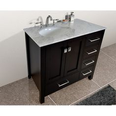 FREE SHIPPING! Shop Wayfair for Stufurhome Malibu 36 Single Bathroom Vanity Set - Great Deals on all Home Improvement products with the best selection to choose from!