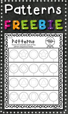 FREE RESOURCE: Involves identifying, tracing and continuing basic 2D shape patterns. Suitable for preschool.