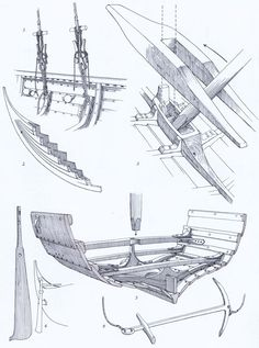 Skibsdetaljer – Schiffszubehör – Ship details