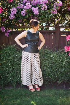 Nadia Albano, Polka-dot, Culottes Thrifted at a local Value Village