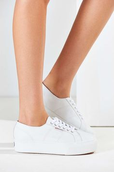 Superga 2790 Leather Platform Sneaker - Urban Outfitters