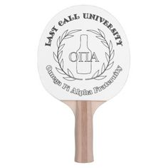 Last Call Uni OPA Fraternity Ping-Pong Paddle - party gifts gift ideas diy customize