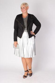 Plus Size Clothing for Women - Jessica Kane Silver Skirt (Sizes 14 - 32) - Society+ - Society Plus - Buy Online Now!