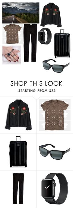 """Road Trip"" by giulia-ostara-re ❤ liked on Polyvore featuring Chicwish, Tumi, Maui Jim and Madewell"