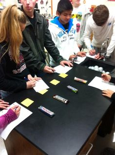 Candy bar evaluation as a part of a livestock judging lesson -  GRHS FFA.     www.OneLessThing.net