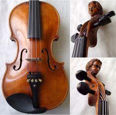 ♪♫► FINE OLD CZECH VIOLIN w/ HUMAN HEAD ♫ VIDEO ♪ VINTAGE ANTIQUE ♪♫ Violino ♪   eBay