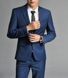 hipster wedding suits for groom blue | Male slim suit groom wedding suits dress blue on Aliexpress.com