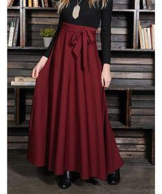 d5abc070c0 Milly Penzance   Dark Rose Tie-Belt High Waist Maxi Skirt - Women & Plus