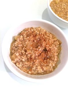 Prepare these apple cinnamon steel-cut oats the night before and wake up to a healthy, wholesome breakfast!