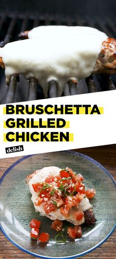 Bruschetta Grilled Chicken Is The Summer Dinner For Winners (Delish) Grilled Bruschetta Chicken Recipe, Grilled Meat, Healthy Grilled Chicken Recipes, Grilling Recipes, Cooking Recipes, Grilling Ideas, Low Carb Recipes, Clean Recipes, Food To Make
