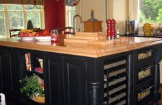 Butcher block counter top; maple, urethane finish.