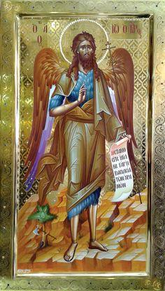 Orthodox Catholic, Orthodox Christianity, Byzantine Icons, Byzantine Art, Holy Mary, John The Baptist, Religious Icons, Orthodox Icons, Painting