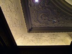 Ceiling Ornamentation- by day or by night this library shines with an impeccable ornate, stepped ceiling. Plaster Mouldings, Plaster Art, Ceiling Design, Ceiling Ideas, Castle Project, Dome Ceiling, Classic Ceiling, Art Decor, Decoration