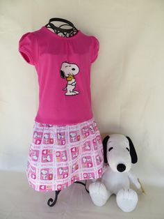 FREE SHIPPING  Snoopy & Woodstock Embroidered Girls by BeSewMerry, $35.00