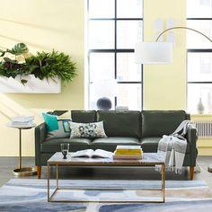 "Hamilton Leather Sofa (81"") | west elm"