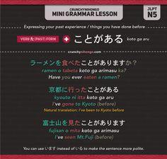 Japanese Grammar: ことがある (koto ga aru)