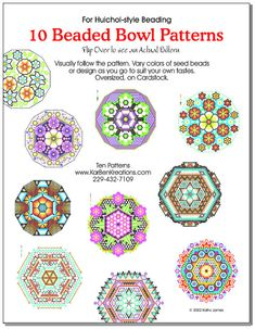 10 Beaded Bowl Patterns for Huichol-style by KarBenKreations