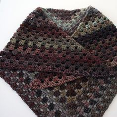 Granny Shawl - croched with Red Heart Botique Treasure yarn in Portrait