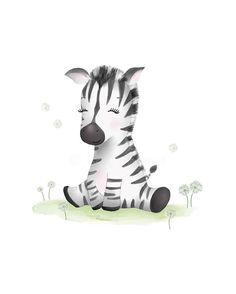 Zebra Nursery Art - Baby Zebra - Zebra Baby Shower -Zebra Nursery Decor - Nursery Art Prints - Safari Print - Sweet Cheeks Images