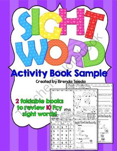 Worksheets Write In Word From 101 To 200 kites sight word race activity mini books sampler from tejedas tots k 2 on teachersnotebook com