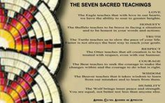 The Seven Sacred Teachings Native American Images, Native American Wisdom, Native American Indians, Native Americans, Smudging Prayer, Indigenous Education, Native American Spirituality, Aboriginal Culture, Spiritual Symbols