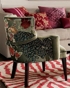 Most beautiful side chair EVER!   Peacock Chair by Haute House at Neiman Marcus.
