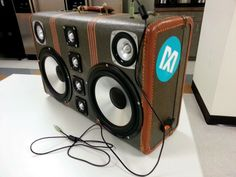 DIY Luggage Boombox | DIY Suitcase Boombox | great way to repurpose an old suitcase