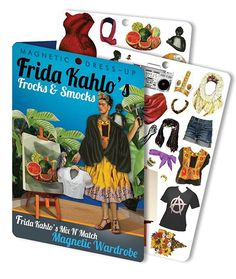 Books About Frida Kahlo For Kids: This sturdy magnetic dress-up set is a great way to introduce smaller children to Frida Kahlo the artist and enduring style icon.