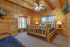 Queen Size Bunk Beds, Cabins In The Smokies, Pigeon Forge Cabin Rentals, Bedroom Night, Luxury Cabin, Step Inside, Lodges, Game Room, Living Area