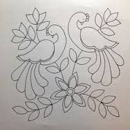 I don& know if anyone else has noticed this but I am seeing coloring books for grown-ups everywhere! (I wanted to say adult coloring book in that last sentence but I figured out that might be misinte Mexican Embroidery, Bird Embroidery, Embroidery Stitches, Geometric Embroidery, Peacock Embroidery Designs, Embroidery Patterns Free, Painting Patterns, Fabric Painting, Embroidery Materials