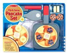 Melissa & Doug 'Flip & Serve' Wooden Pancake Set #affiliate