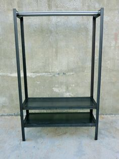 Contemporary clothing rack with a industrial twist. The use of the threaded rod and hex nuts along with the raw steel look gives this rack a Diy Table Legs, Primary Colors, Entryway Tables, Industrial, Etsy Shop, Vintage, Contemporary Clothing, Handmade Gifts, Furniture