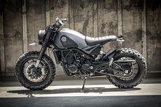 OLD LION, NEW TRICKS. K-Speed's 'Dark Simba' Benelli Leoncino Scrambler - Pipeburn.com