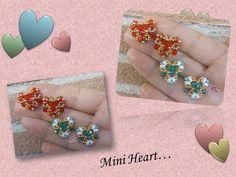 Mini heart con Miniduo superduo biconi e rocailles - YouTube