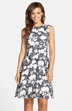 ECI Floral Pointelle Fit   Flare Dress available at  Nordstrom Ruha c7170bb140