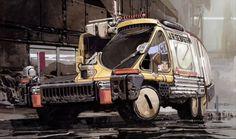 "Vehicle storyboard ""Blade Runner"""