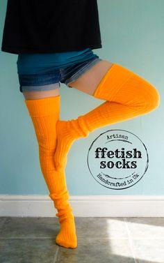 Girls Womens Neon Pink Bright Colour Long Socks Over Knee Length Plain UK 4-6