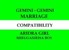 Ardra Girl Mirugasirisa Boy Marriage Compatibility Marriage Astrology, Vedic Astrology, Gemini Girl, Gemini Love, Marriage Matching, Love And Marriage, All About Gemini, Gemini Compatibility, Marriage Relationship